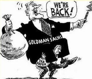 Goddamn-Sachs 'OH SO SMART!'  'financial geniuses'... DEBT SLAVERY LOAN SHARKS !!
