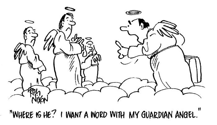 guard angel cartoon
